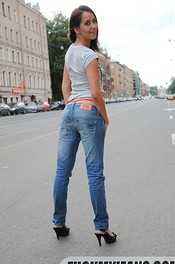 Brunette In Tight Jeans Gets Fucked 00
