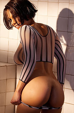 Julia Luba takes a hot shower